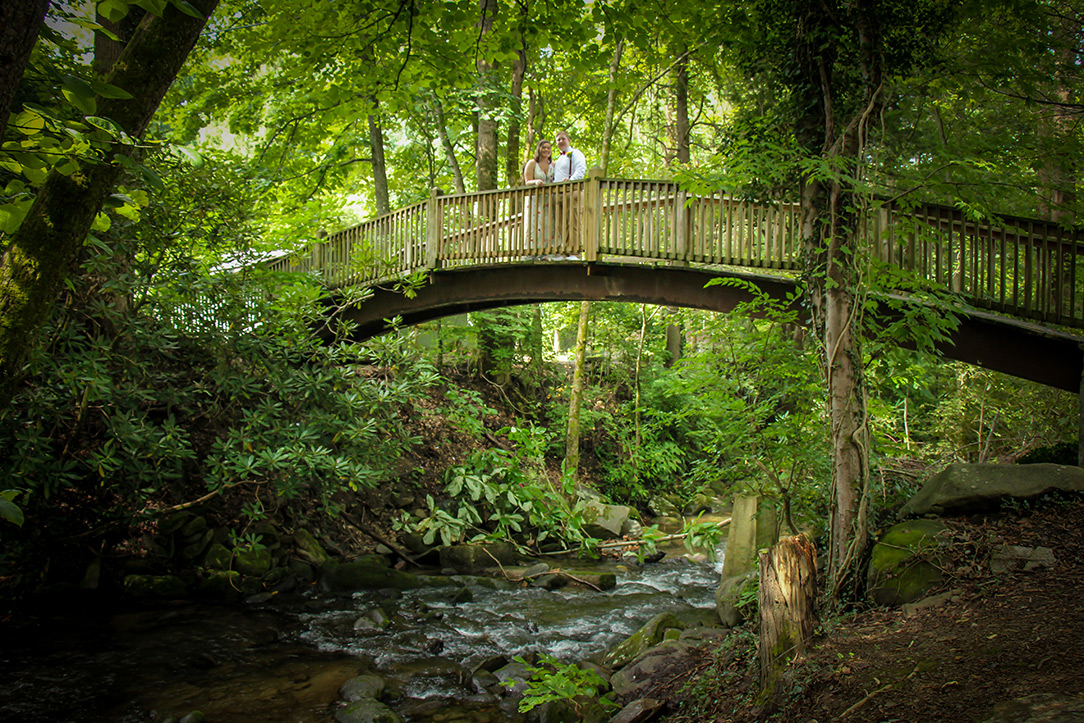 Couple gets married at Mynatt Park in Gatlinburg, Tennessee